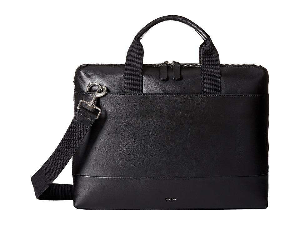 Skagen Peder Slim Brief (Black) Duffel Bags