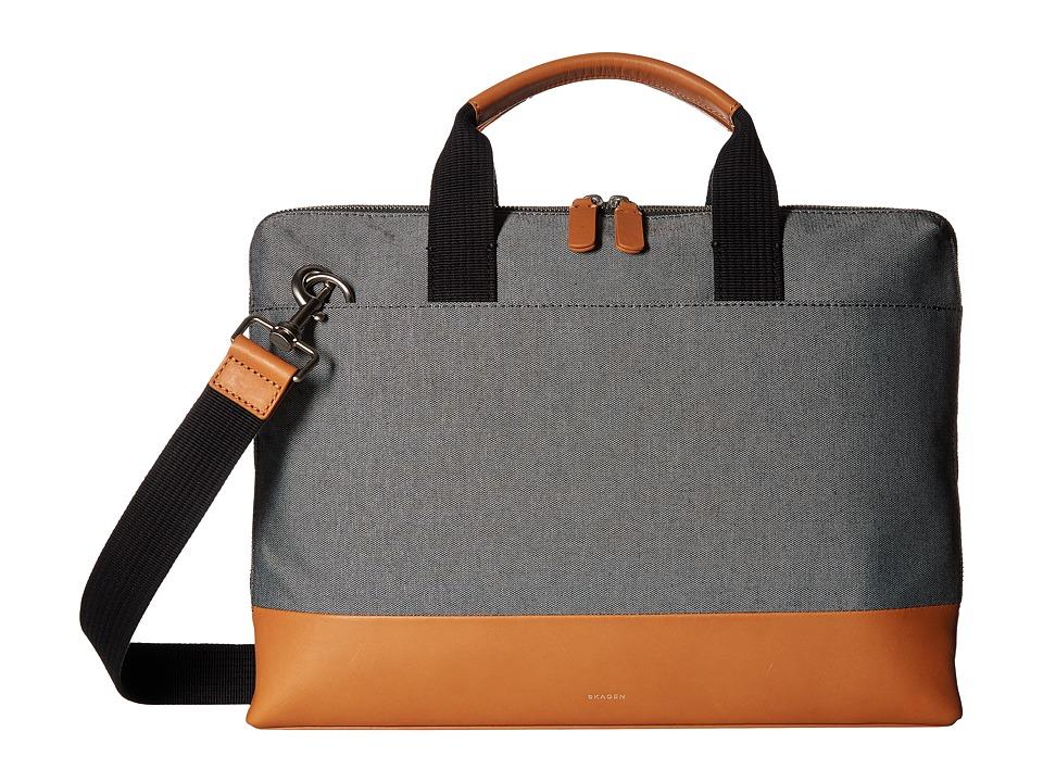 Skagen Peder Slim Brief (Black Multi) Duffel Bags