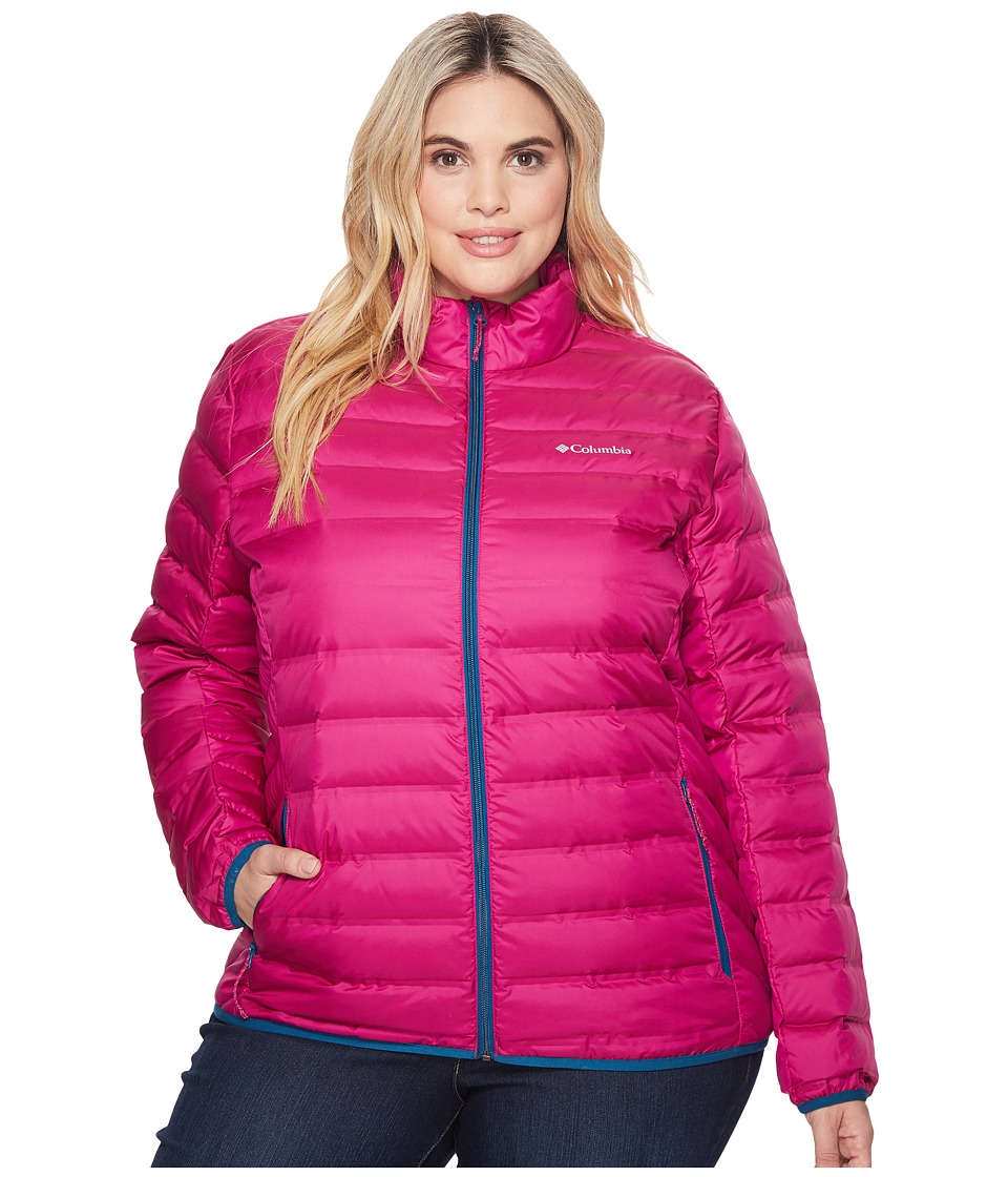 Columbia Plus Size Lake 22 Jacket (Deep Blush/Phoenix Blue) Women