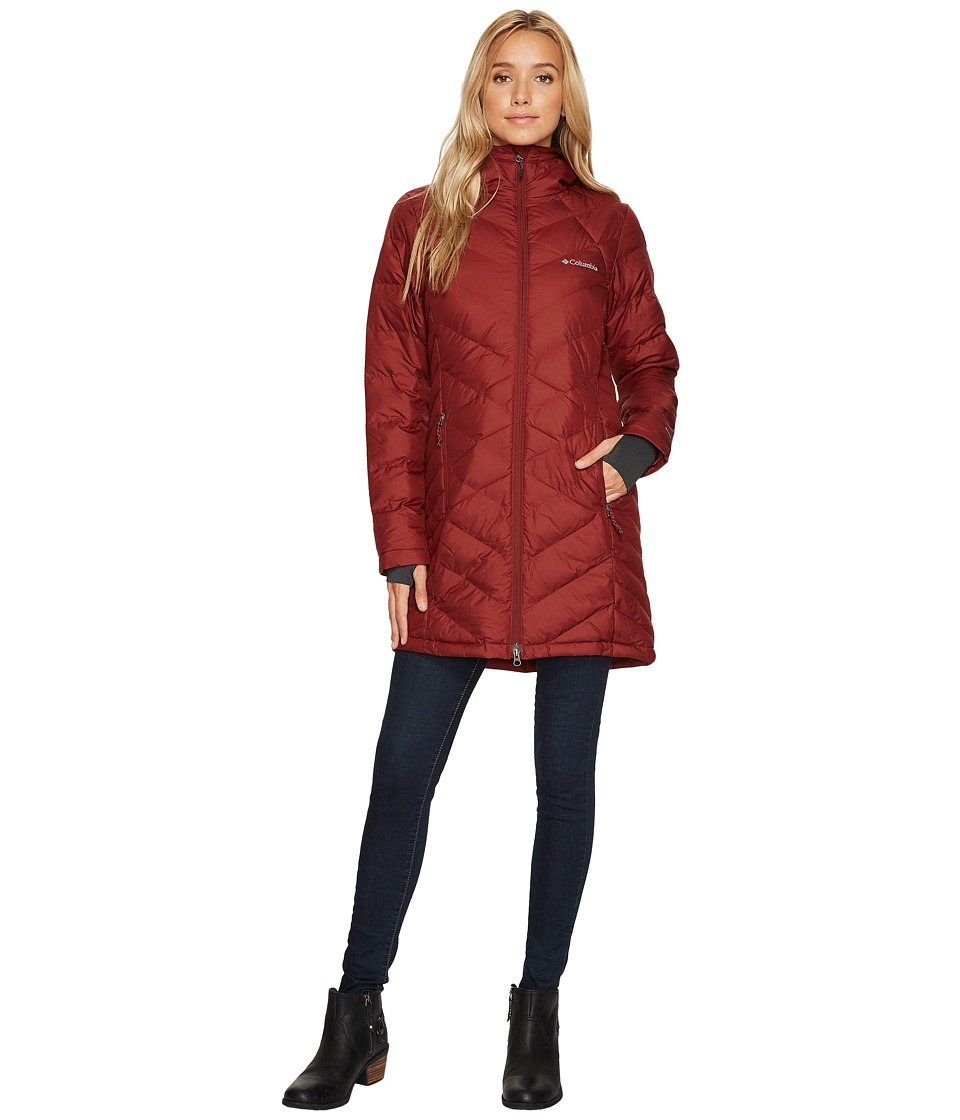 Columbia Heavenly Long Hooded Jacket (Deep Rust) Women