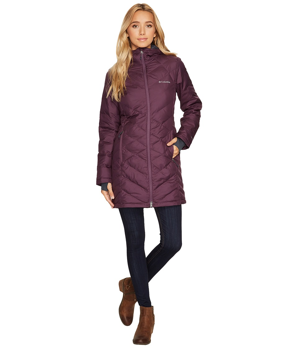 Columbia Heavenly Long Hooded Jacket (Dusty Purple) Women
