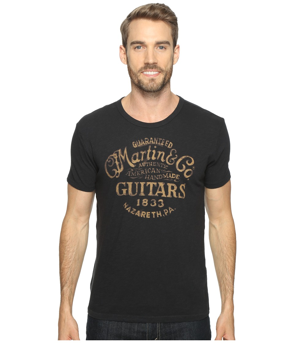 Lucky Brand Martin and Co Disc Graphic Tee (Jet Black) Men