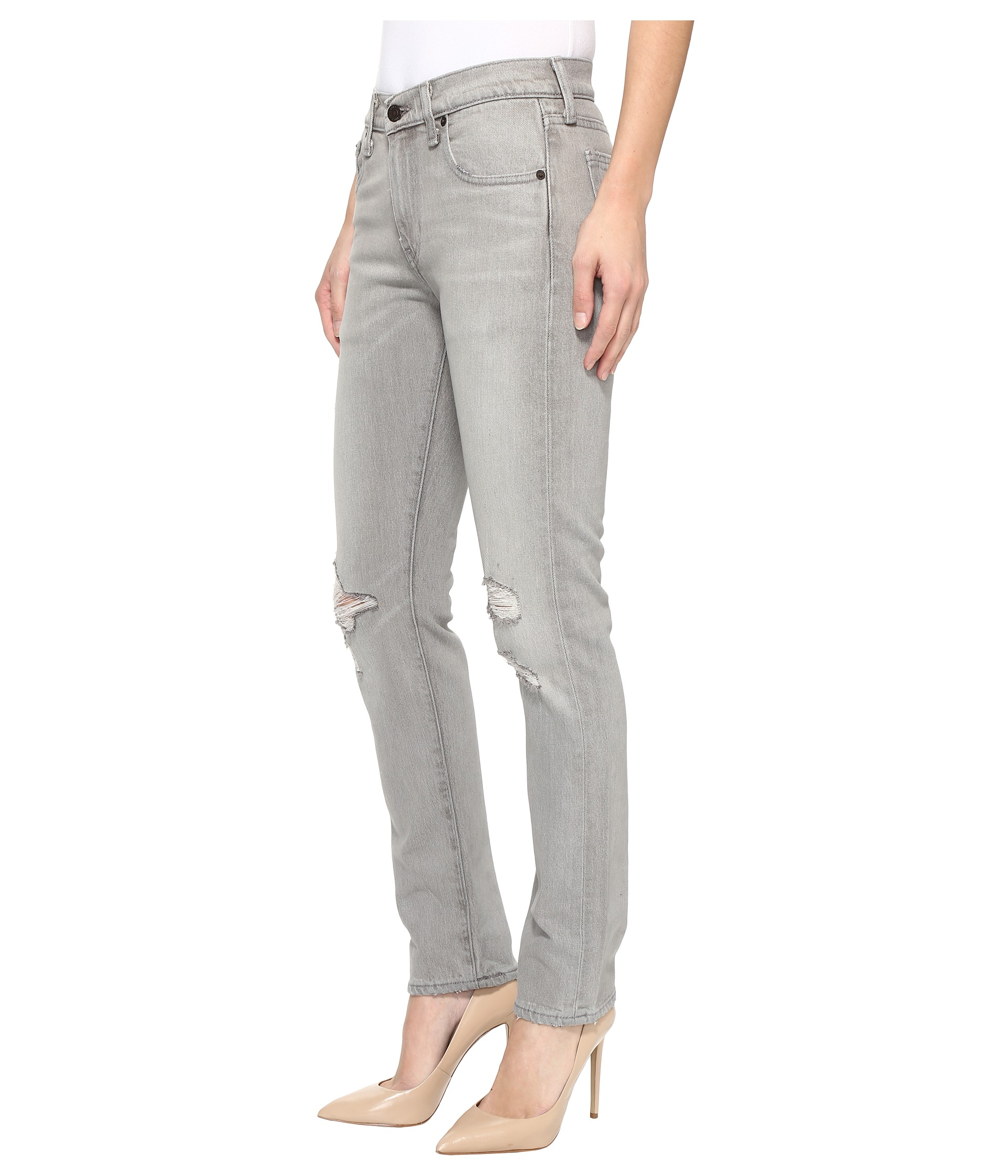 Zappos ($$) You can use their free shipping and free return policy to easily try out jeans from their 34