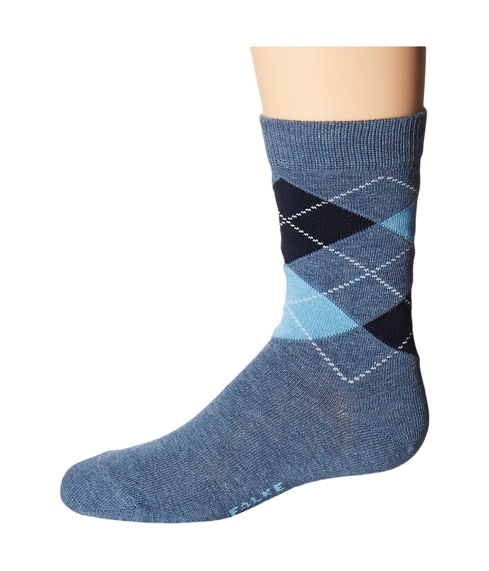 Falke - Classic Argyle Socks (Toddler/Little Kid/Big Kid) (Light Denim) Crew Cut Socks Shoes