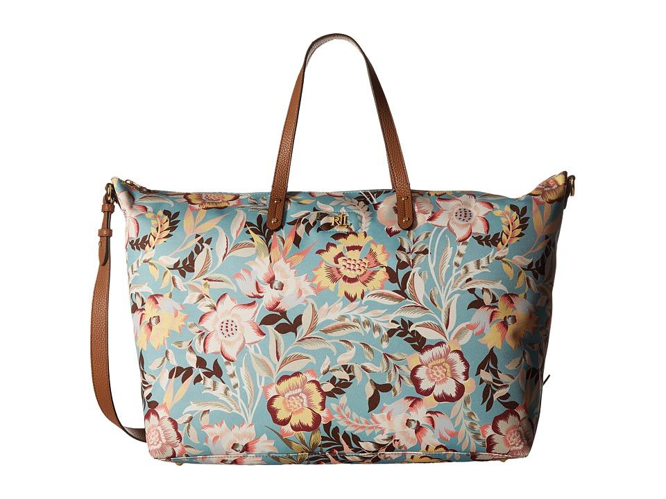 LAUREN Ralph Lauren Bainbridge Darlene Duffel (Seaglass Floral) Duffel Bags