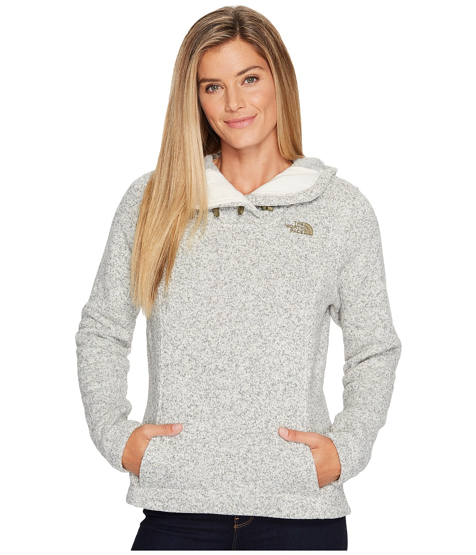 The North Face Crescent Hooded Pullover (Vintage White Heather) Women