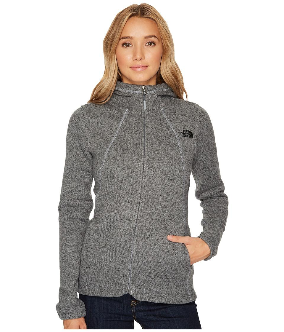 The North Face Crescent Full Zip Hoodie (TNF Medium Grey Heather) Women