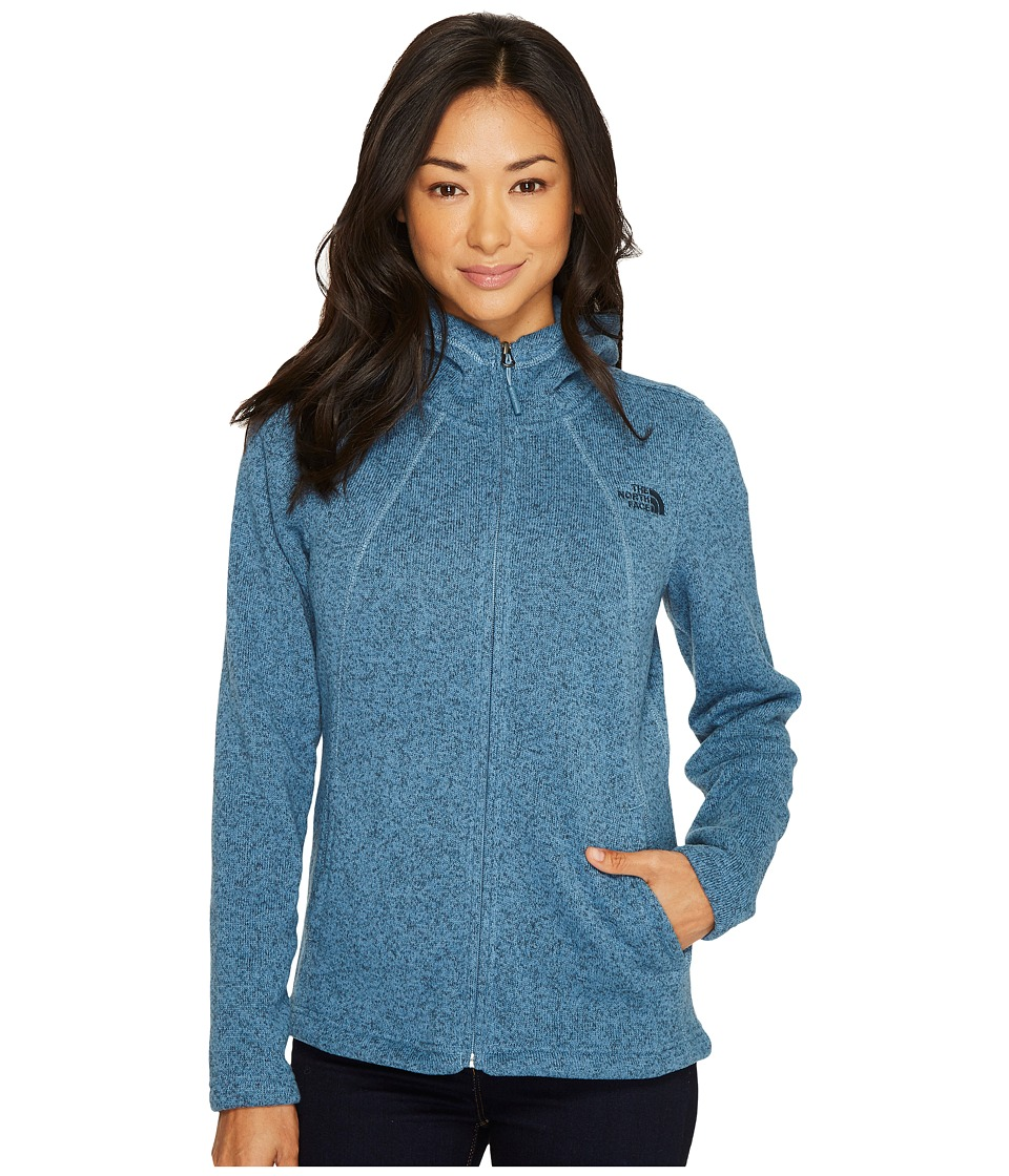 North Face Crescent Full Zip Hoodie (Provincial Blue Heat...