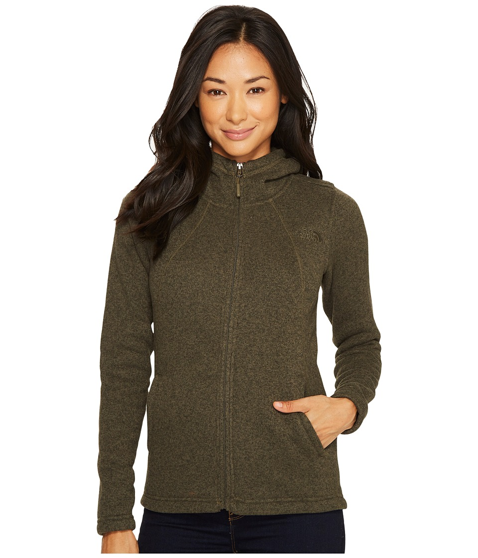 The North Face Crescent Full Zip Hoodie (New Taupe Green Heather) Women