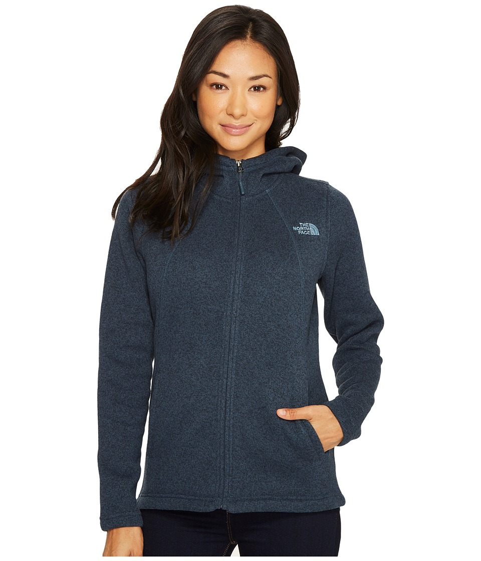North Face Crescent Full Zip Hoodie (Ink Blue Heather) Wo...