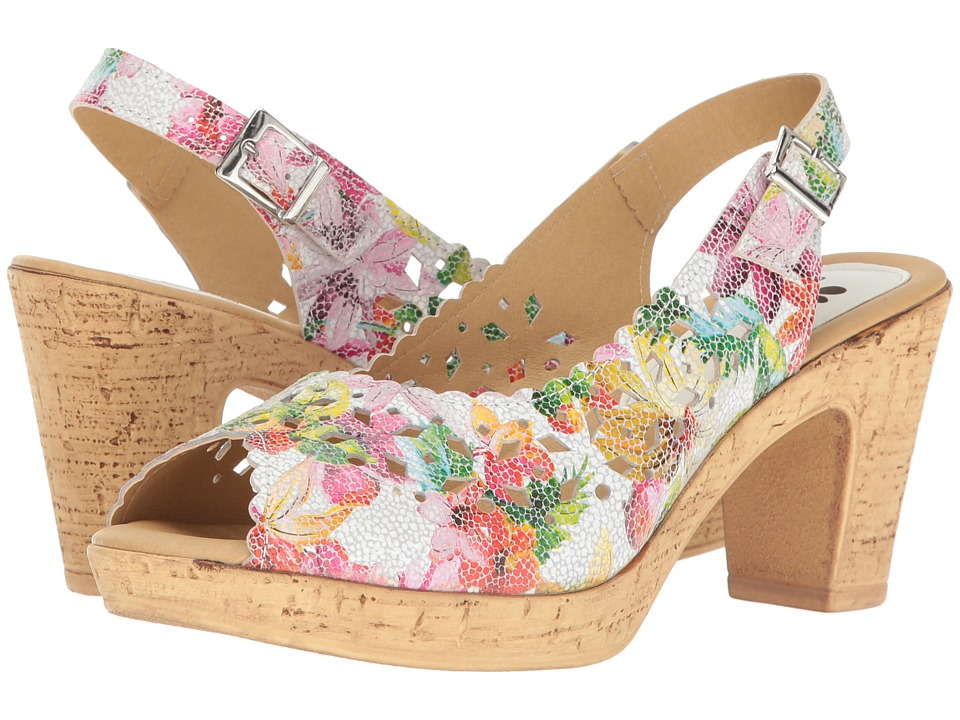 Retro Sandal History: Vintage and New Style Shoes Spring Step - Lovelyness White Womens Shoes $79.99 AT vintagedancer.com