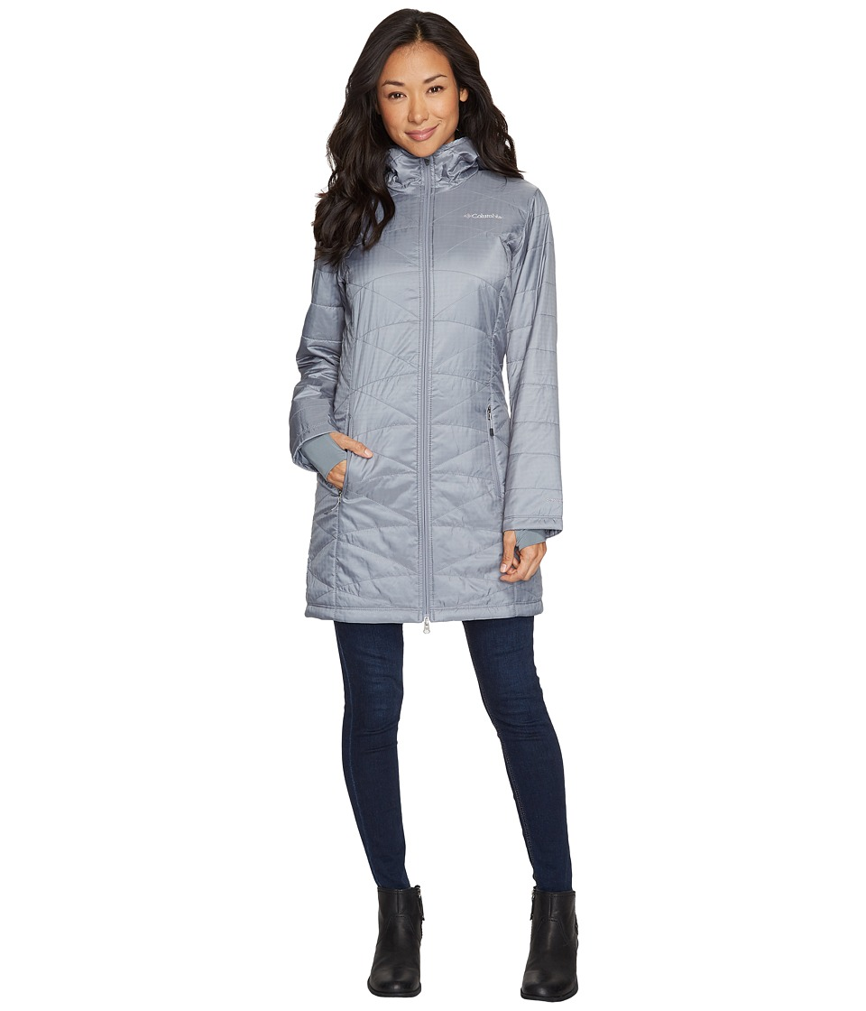 Columbia Mighty Litetm Hooded Jacket (Grey Ash) Women