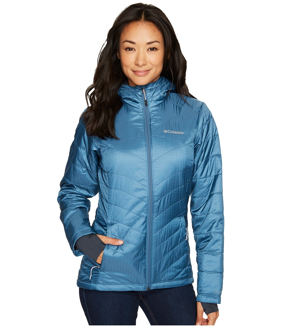 Columbia Mighty Litetm Hooded Plush Jacket (Blue Heron) Women