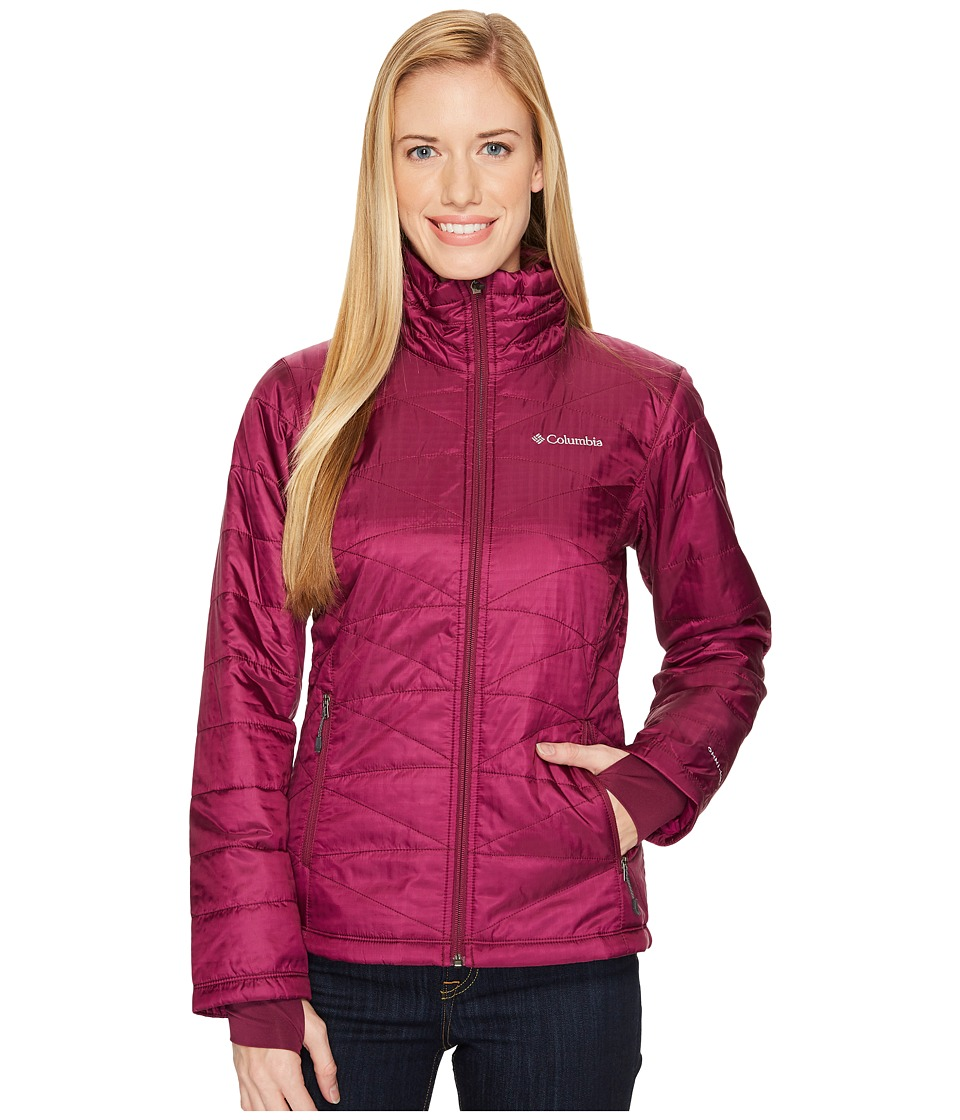 Columbia Mighty Litetm III Jacket (Dark Raspberry) Women