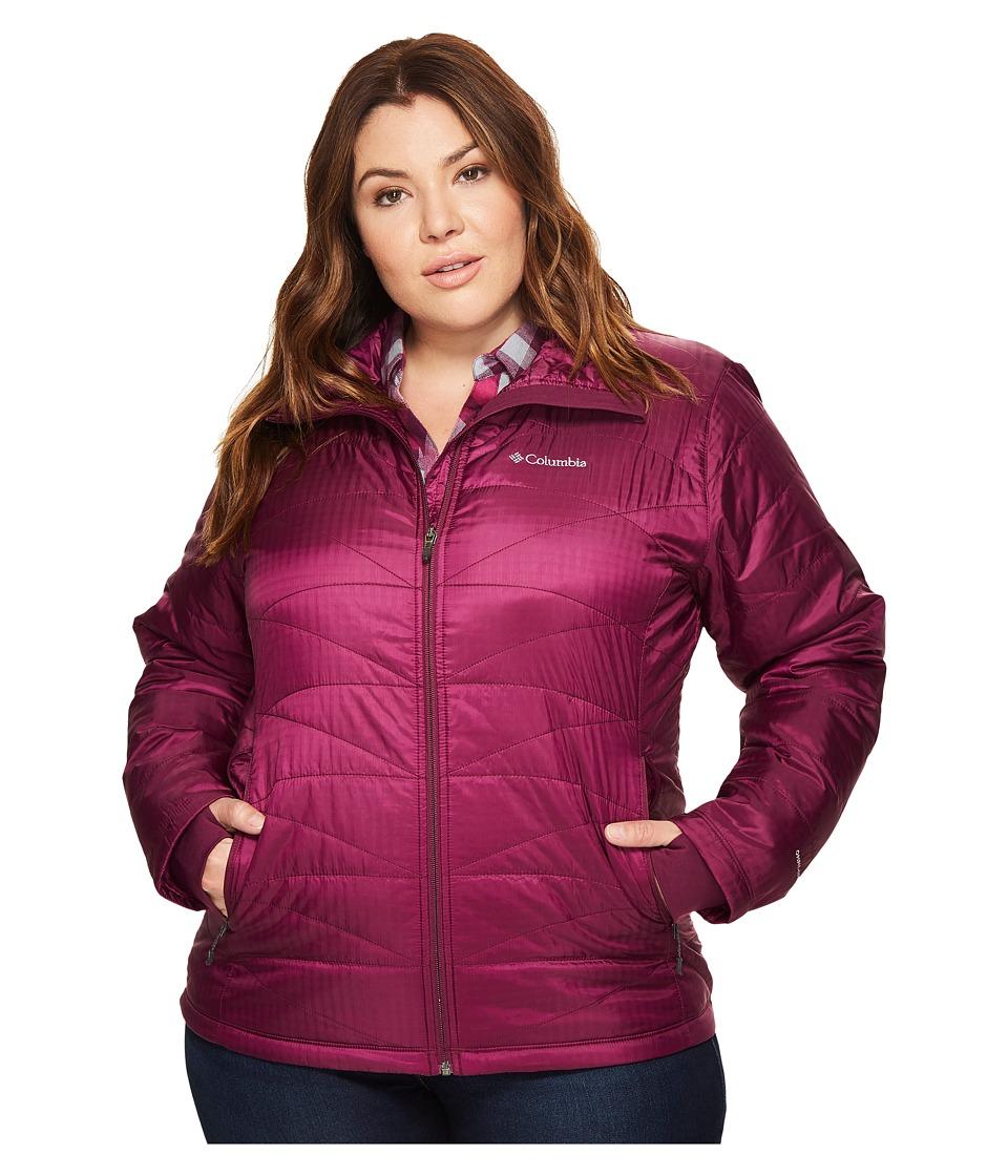 Columbia Plus Size Mighty Litetm III Jacket (Dark Raspberry) Women