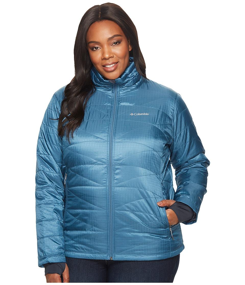 Columbia Plus Size Mighty Litetm III Jacket (Blue Heron) Women