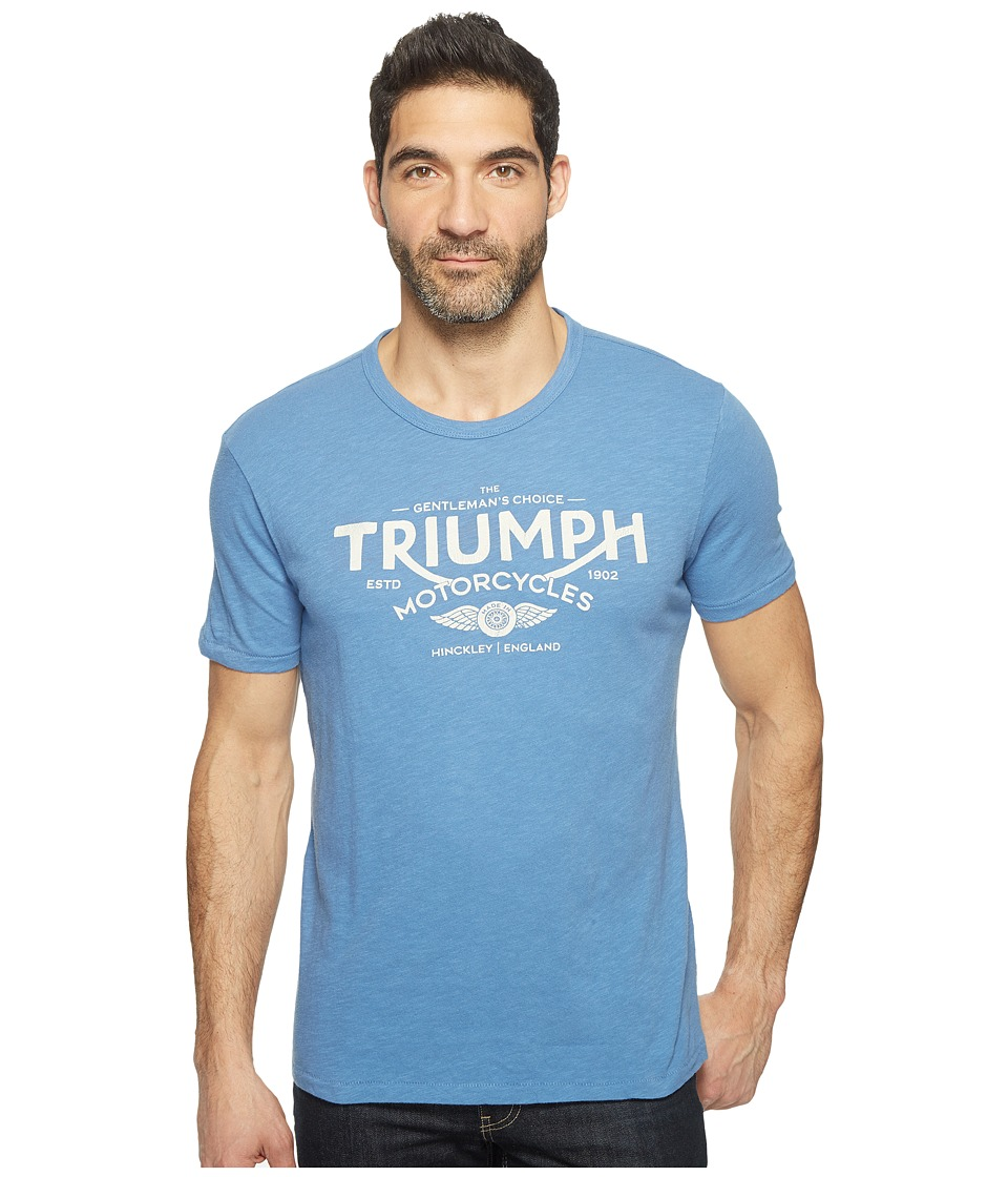 Lucky Brand Triumph Choice Graphic Tee (Federal Blue Slub) Men