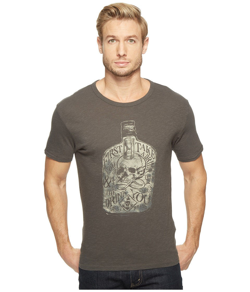 Lucky Brand First You Take A Drink Graphic Tee (Black Mountain Slub) Men