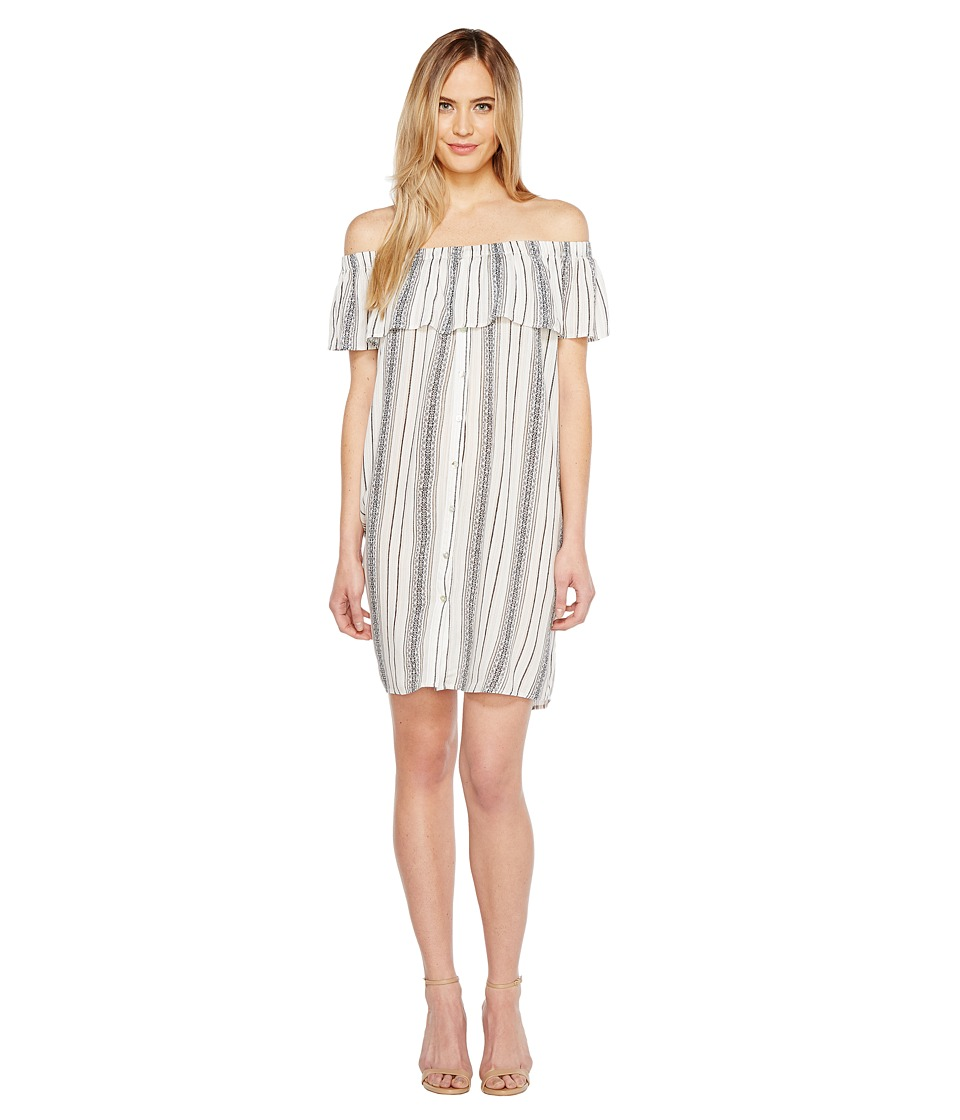 B Collection by Bobeau Rosie Off the Shoulder Dress (Sand Stripe) Women