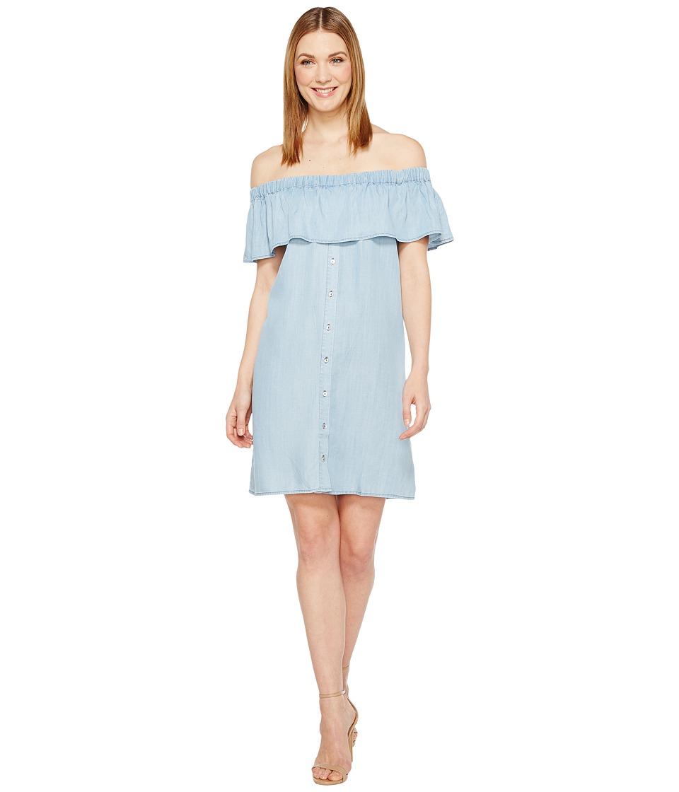 B Collection by Bobeau Rosie Off the Shoulder Dress (Denim Blue) Women