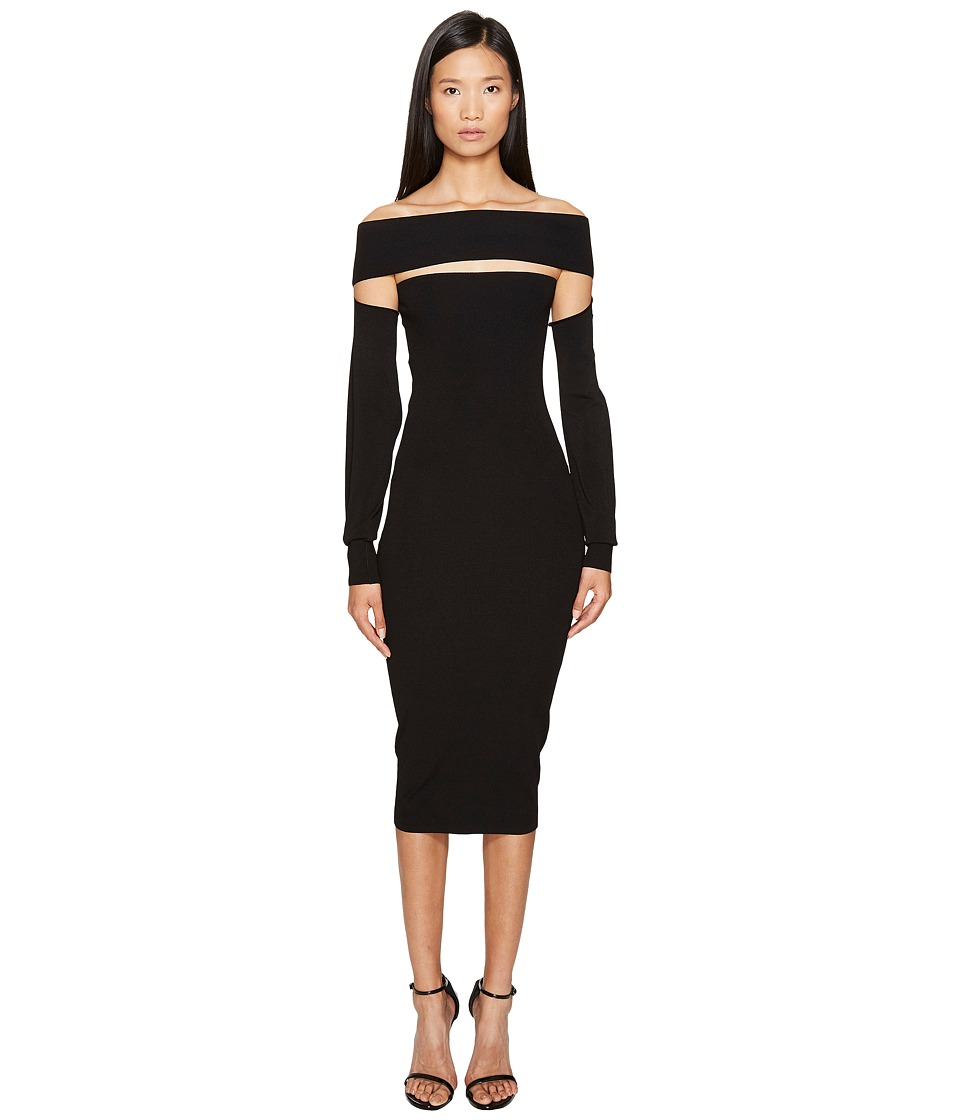 McQ Bandeau Dress (Darkest Black) Women