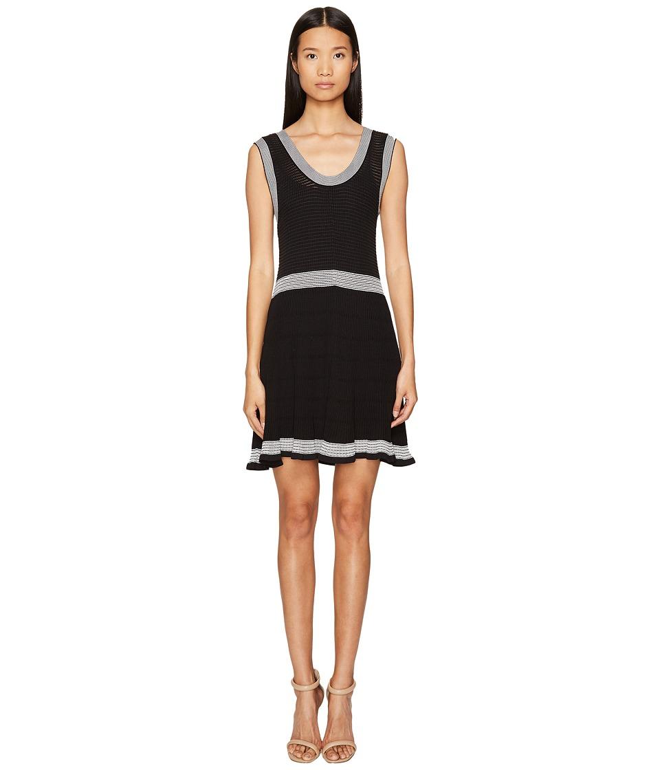 McQ Rib Stripe Dress (Darkest Black) Women