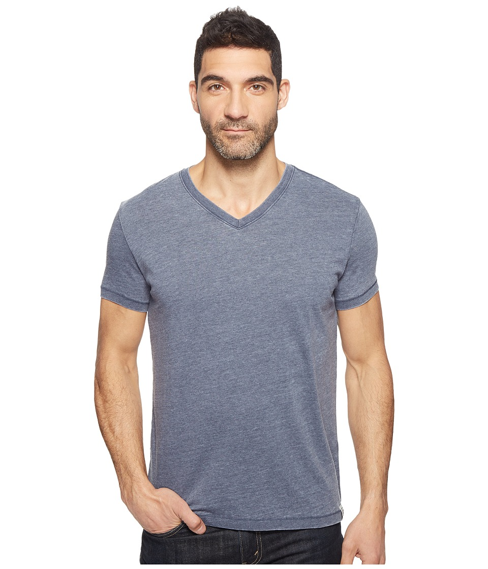 Lucky Brand Burnout V-Neck Tee (American Navy) Men