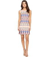 Tahari by ASL - Scuba Shift Dress in Multicolor Ikat Print