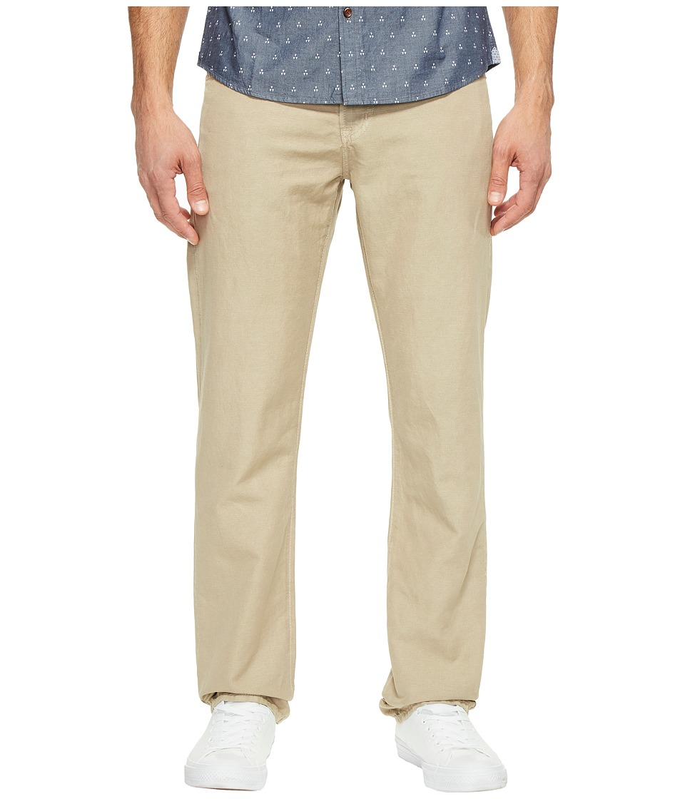 AG Adriano Goldschmied - Graduate Tailored Leg Linen Pants in Sulfur Desert Stone