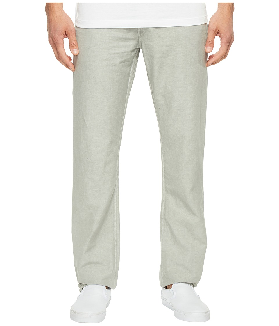 AG Adriano Goldschmied - Graduate Tailored Leg Linen Pants in Sulfur Grey Haze