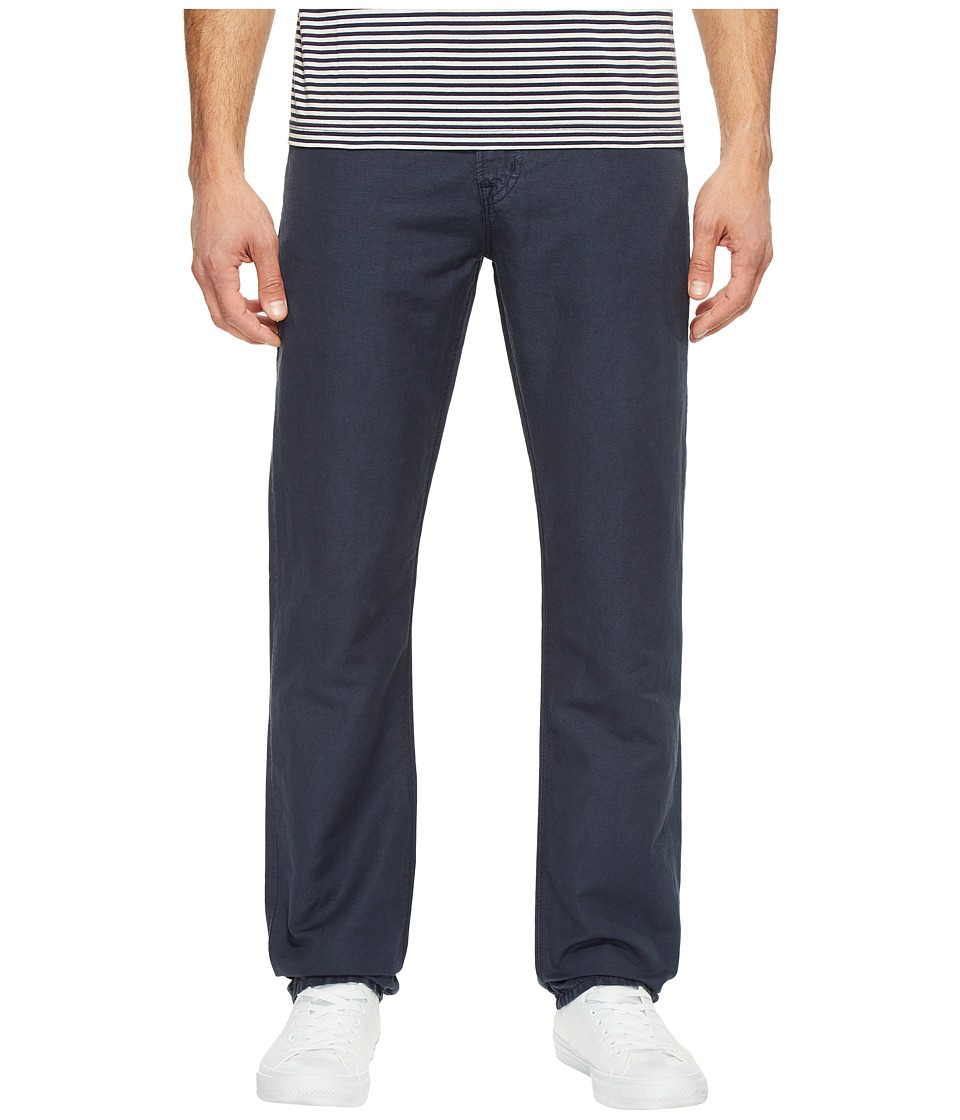 AG Adriano Goldschmied - Graduate Tailored Leg Linen Pants in Sulfur Night Sea
