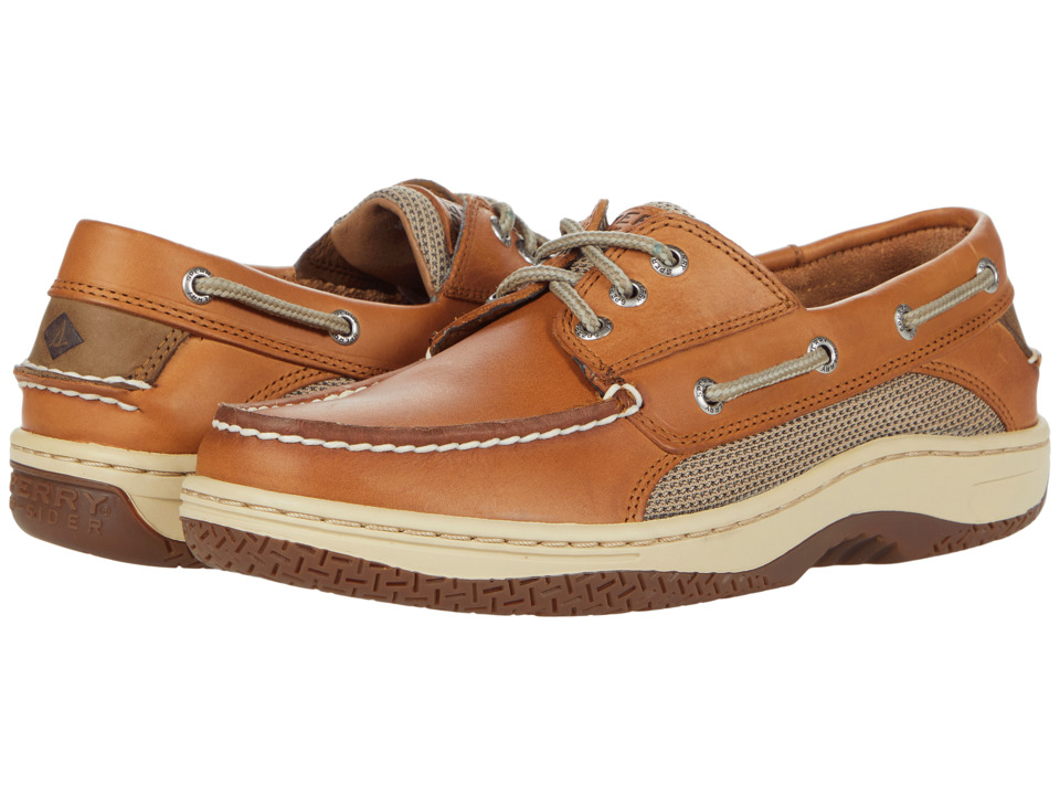 Sperry Top Sider Billfish 3 Eye Boat Shoe Dark Tan Mens Lace up casual Shoes
