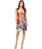 Tahari by ASL - Technicolor Floral Print Sheath Dress