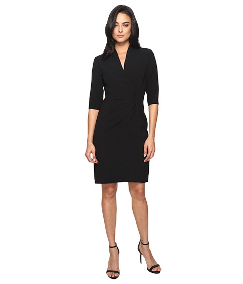 Tahari by ASL Side Ruche Crepe Sheath Dress
