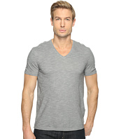 John Varvatos Star U.S.A. - Short Sleeve Knit V-Neck with Self Fabric Detail K2979T1L