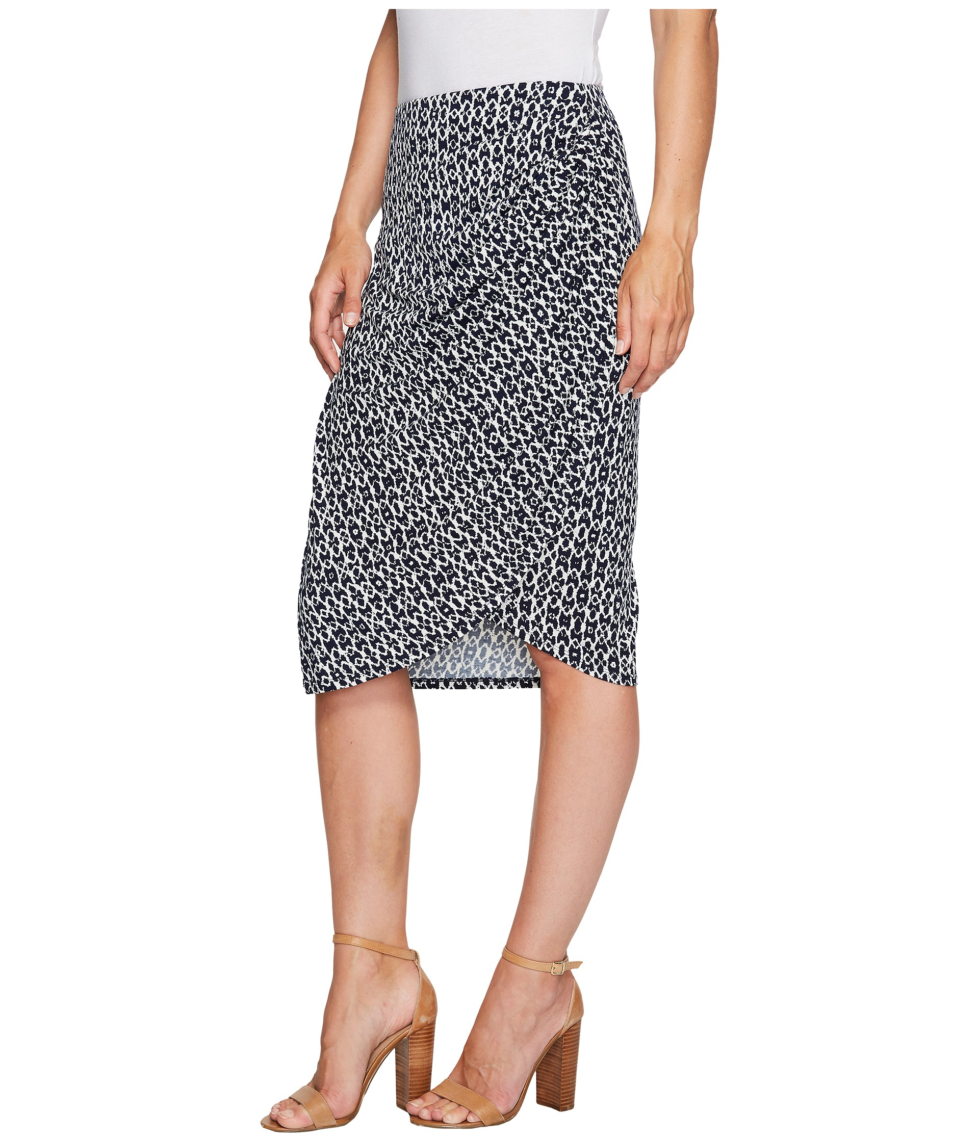 b collection by bobeau reiley side gather skirt