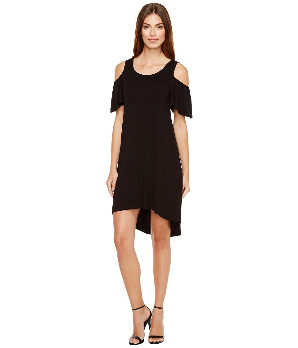 B Collection by Bobeau Sawyer Cold Shoulder Knit Dress (Black) Women