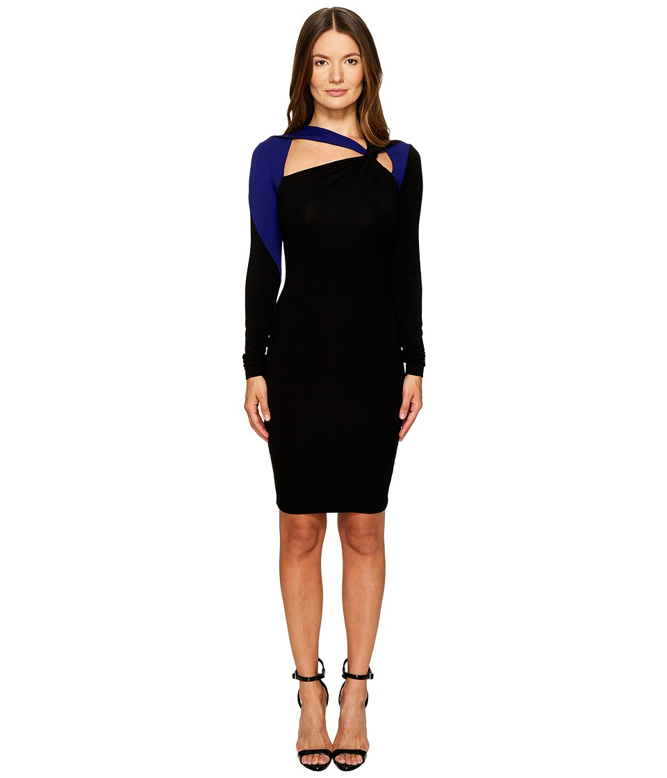Versace Jeans Long Sleeve Cut Out Dress (Nero) Women