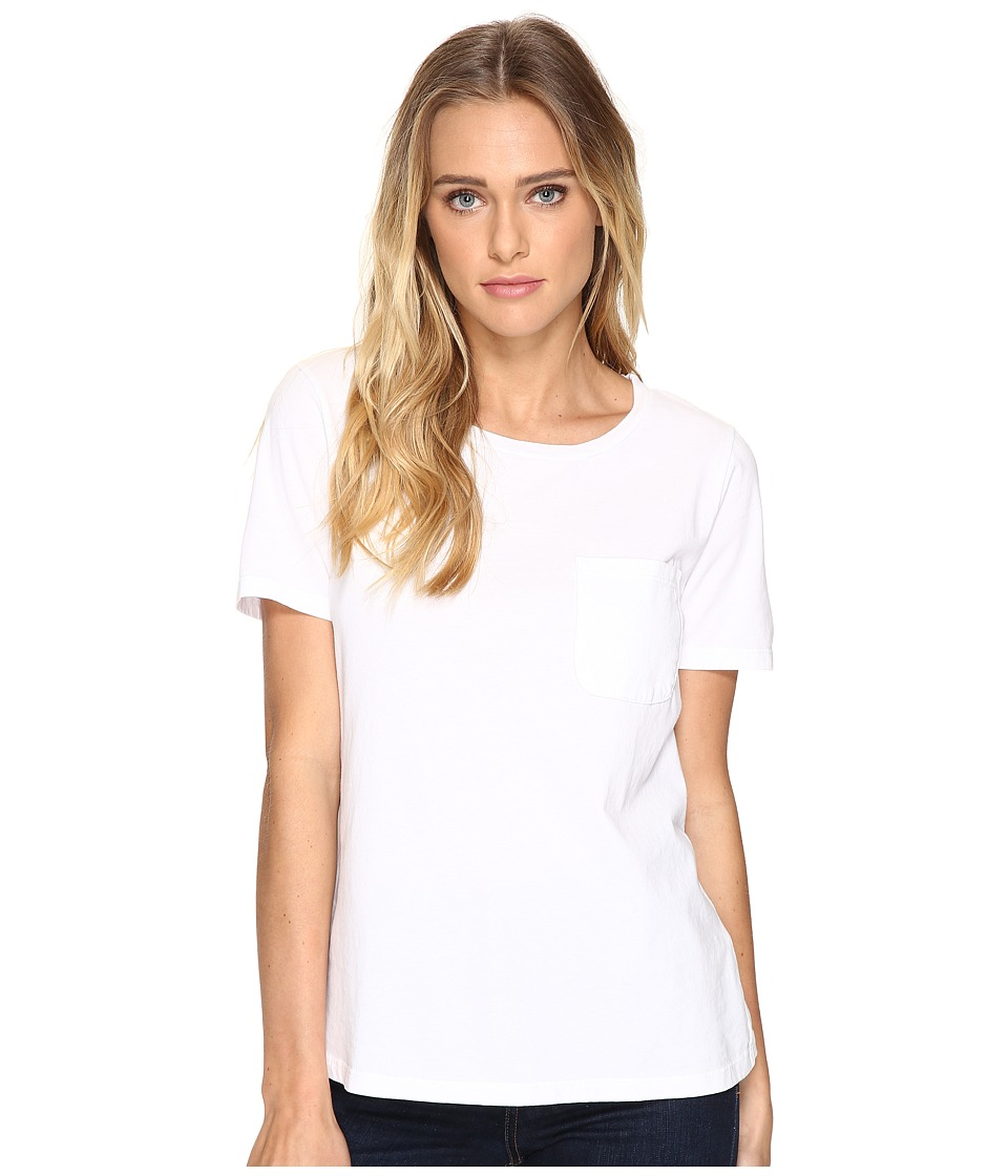 Three Dots Ex Boyfriend Pocket Tee (White) Women