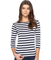 Three Dots - Stripe 3/4 Sleeve British Tee