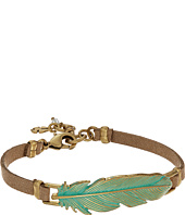 Lucky Brand - Patina Feather Leather Bracelet