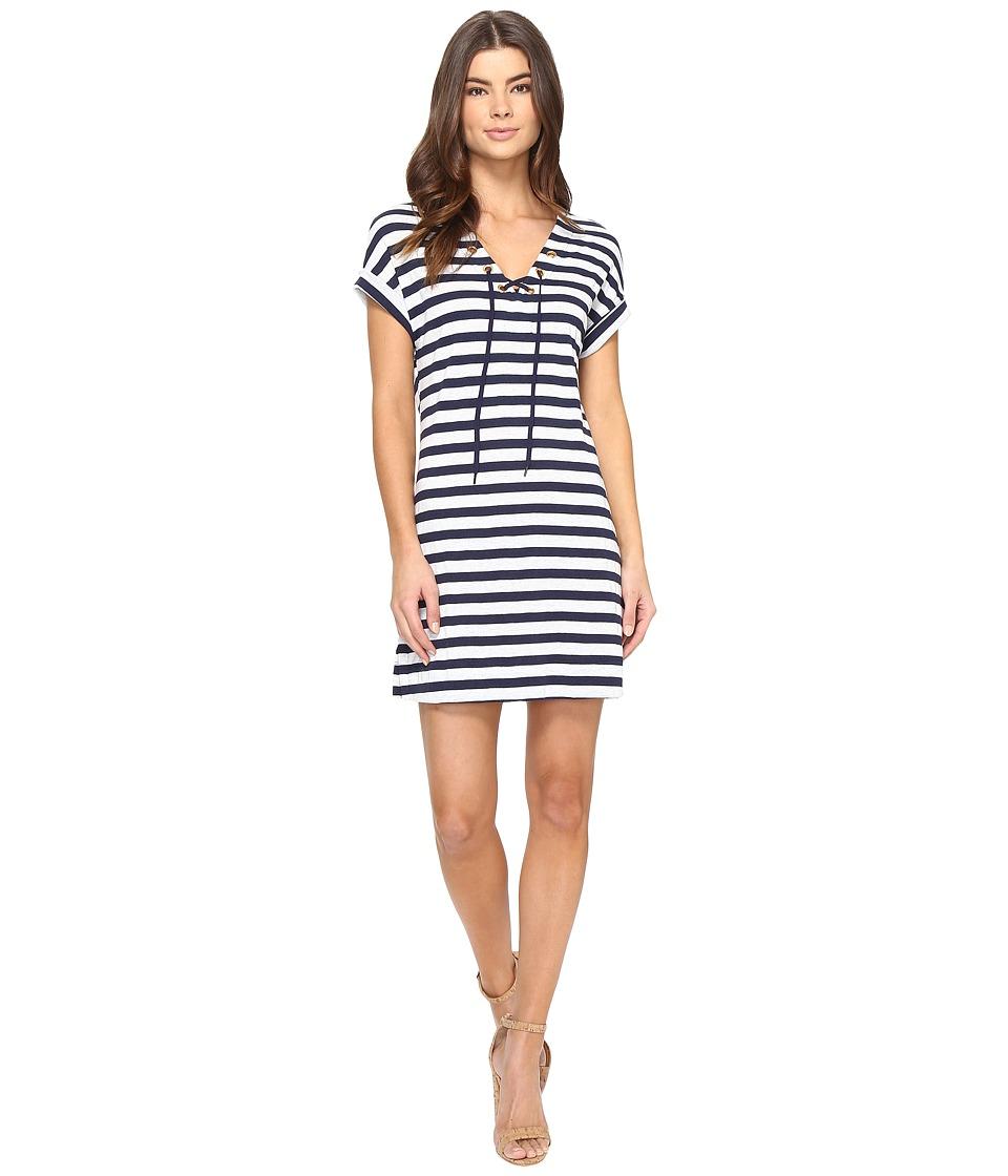 Three Dots Stripe Tie Front Dress (Coastal Stripe) Women