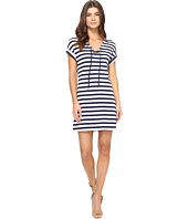 Three Dots - Stripe Tie Front Dress