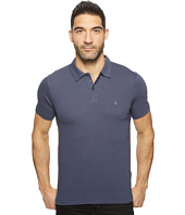 John Varvatos Star U.S.A. - Striped Soft Collar Peace Polo with Peace Sign Chest Embroidery K1381T1B