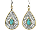 Lucky Brand - Etched Turquoise Drop Earrings