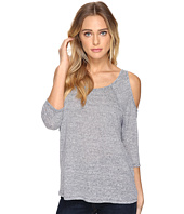 Three Dots - 3/4 Sleeve Cold Shoulder Top