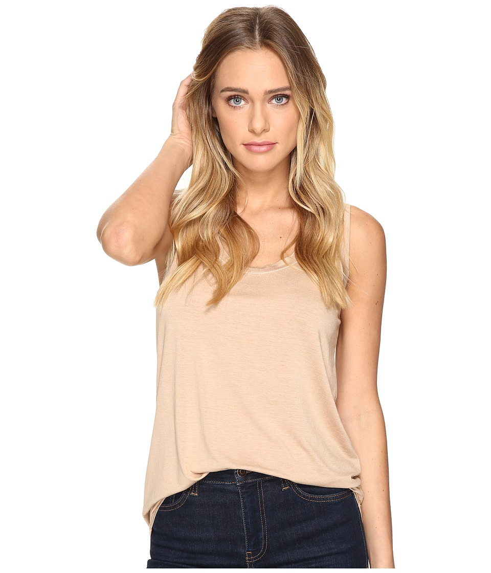 Three Dots Lightweight Viscose Long Tank (Soft Camel) Women