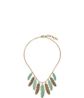 Lucky Brand - Patina Feather Collar Necklace
