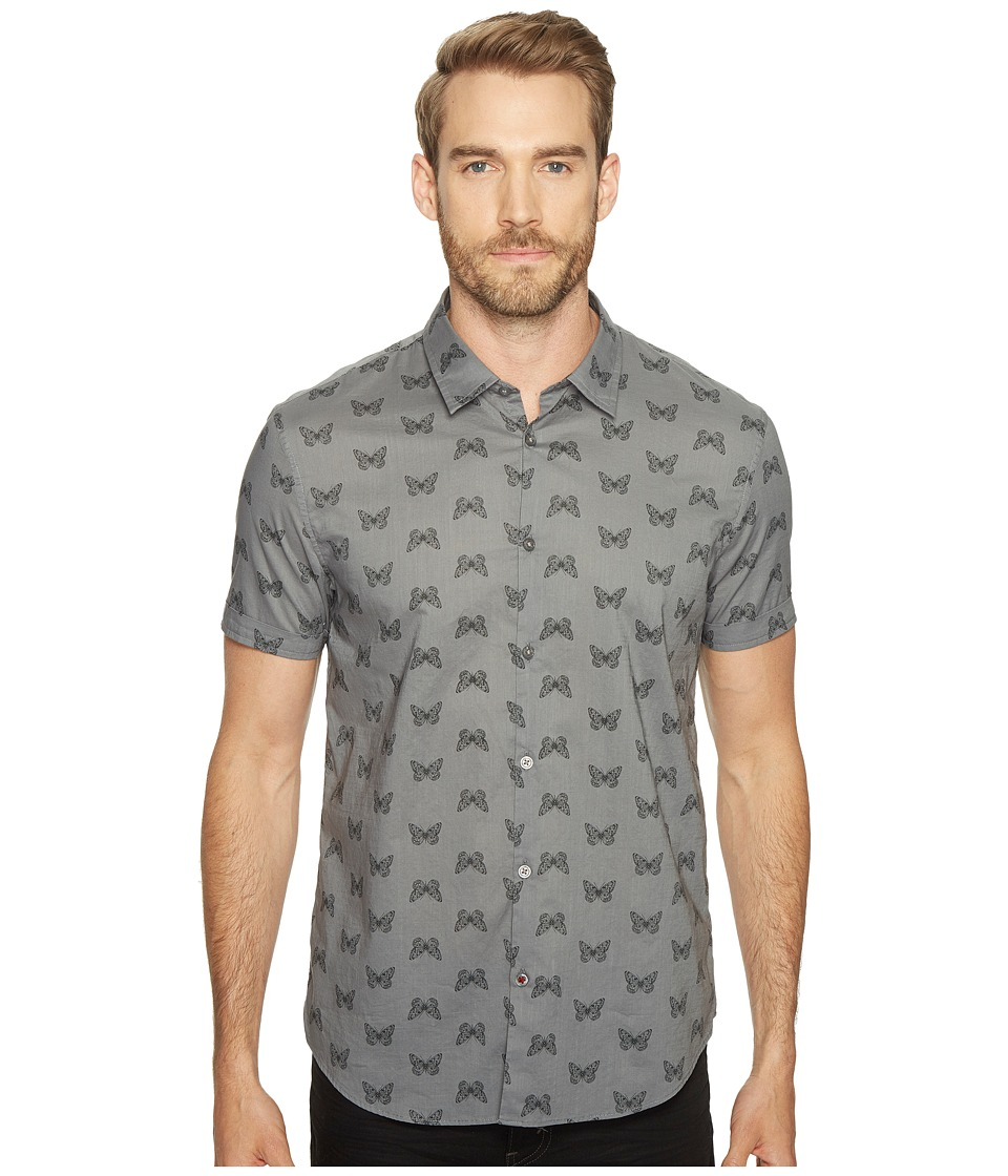 John Varvatos Star U.S.A. John Varvatos Star U.S.A. - Mayfiled Slim Fit Sport Shirt with Cuffed Short Sleeves W443T1B