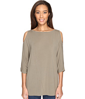 Michael Stars - Lycra Jersey 3/4 Sleeve Cold Shoulder Tunic